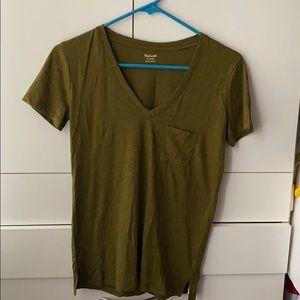 madewell v neck tshirt
